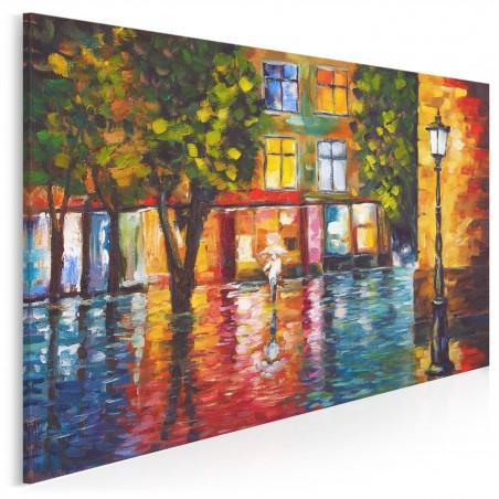 Płynący trotuar - nowoczesny obraz na płótnie - 120x80 cm