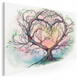 Drzewo miłości - nowoczesny obraz na płótnie