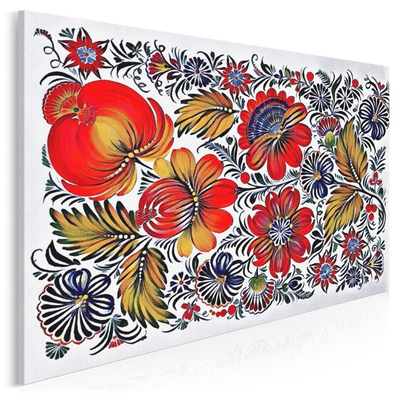 e5fcebb4 Folklove - nowoczesny obraz na płótnie - 120x80 cm