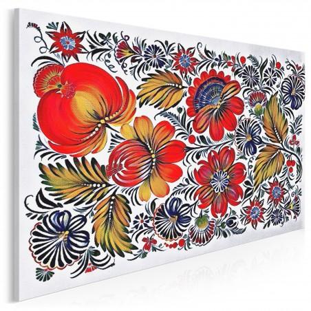 Folklove - nowoczesny obraz na płótnie - 120x80 cm