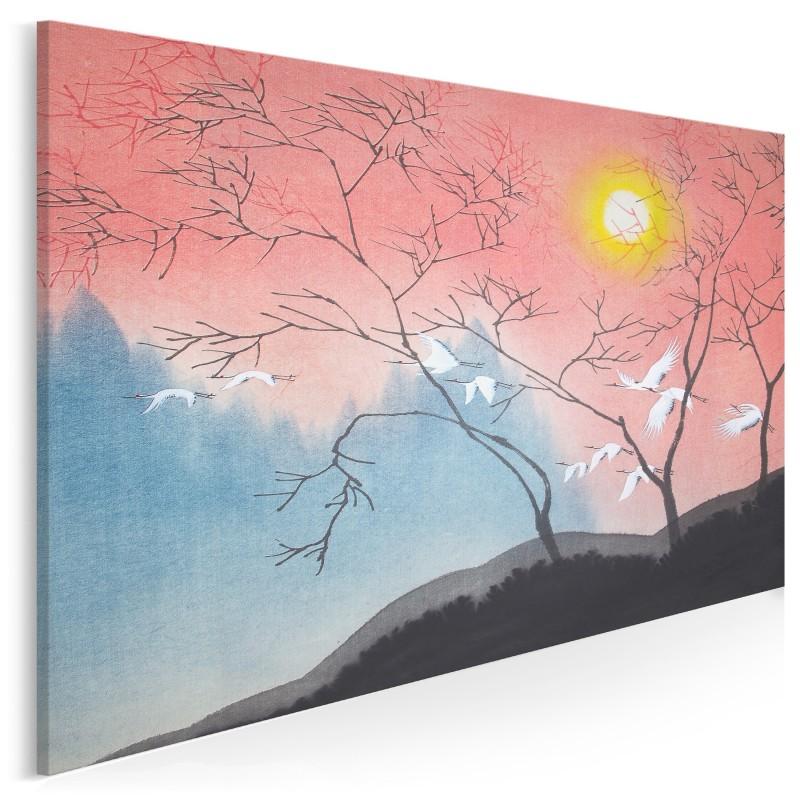 Pożegnanie z Japonią - nowoczesny obraz na płótnie - 120x80 cm