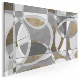 Między szyframi - nowoczesny obraz na płótnie - 120x80 cm