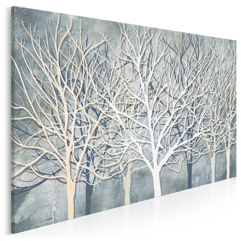 Dalej w las - nowoczesny obraz do sypialni