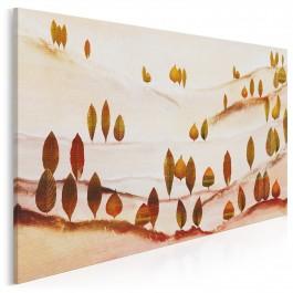 Las liściasty - nowoczesny obraz do sypialni - 120x80 cm