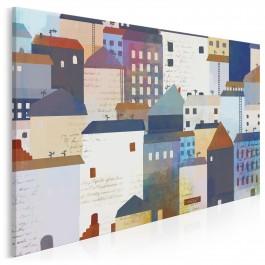 Bulwar natchnionych poetów - nowoczesny obraz na płótnie - 120x80 cm