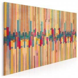 Tęczowa piosenka - nowoczesny obraz na płótnie - 120x80 cm