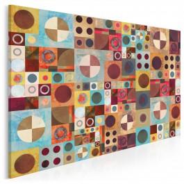 Dwa pi er - nowoczesny obraz na płótnie - 120x80 cm