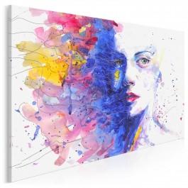 Druga twarz - nowoczesny obraz na płótnie - 120x80 cm