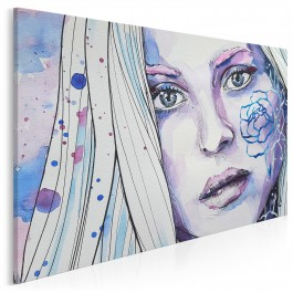 Znamię piękna - nowoczesny obraz na płótnie - 120x80 cm