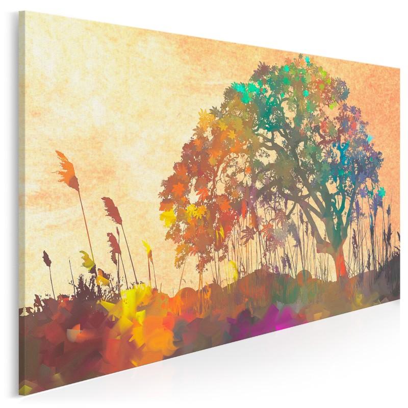 Słoneczne refleksy - nowoczesny obraz na płótnie - 120x80 cm