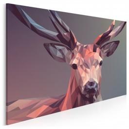 Deer 2.0 - nowoczesny obraz na płótnie - 120x80 cm