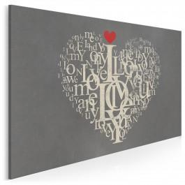 Język miłości - nowoczesny obraz na płótnie
