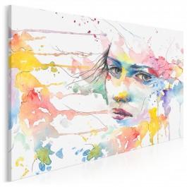 Semantyka ekspresji - nowoczesny obraz na płótnie - 120x80 cm