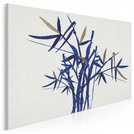 Niebiański zen - nowoczesny obraz na płótnie - 120x80 cm
