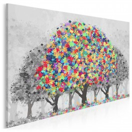 Afirmacja życia - nowoczesny obraz na płótnie - 120x80 cm
