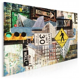Podróż dookoła Ameryki - nowoczesny obraz na płótnie - 120x80 cm