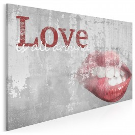 Love is all around - nowoczesny obraz na płótnie - 120x80 cm