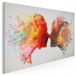 Kolory miłości - nowoczesny obraz na płótnie