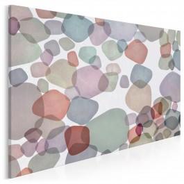 Kamienie milowe - nowoczesny obraz na płótnie - 120x80 cm