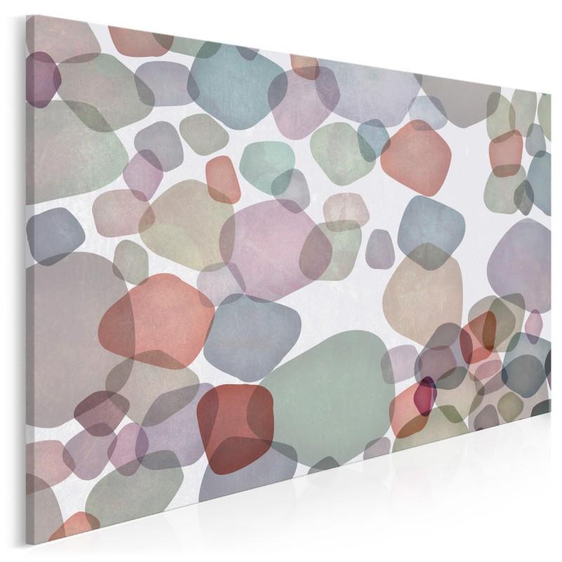Kamienie milowe - nowoczesny obraz na płótnie