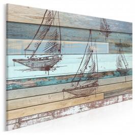 Wiatr w żagle - nowoczesny obraz na płótnie - 120x80 cm