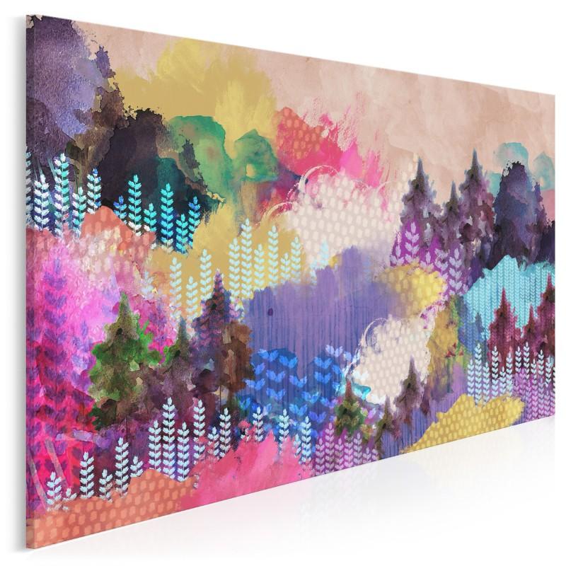 Dolina tęczy - nowoczesny obraz na płótnie - 120x80 cm