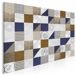 Trójkąty i kwadraty - nowoczesny obraz na płótnie - 120x80 cm