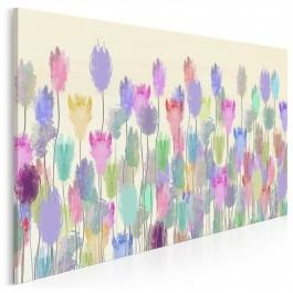 Lawendowa weranda - nowoczesny obraz na płótnie - 120x80 cm