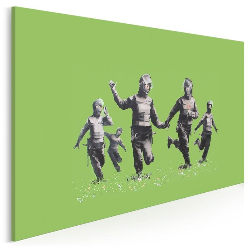 Banksy - Happy SWAT team - nowoczesny obraz na płótnie