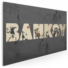 Banksy - Street art - nowoczesny obraz na płótnie - 120x80 cm