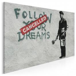 Banksy - Follow your dreams - nowoczesny obraz na płótnie