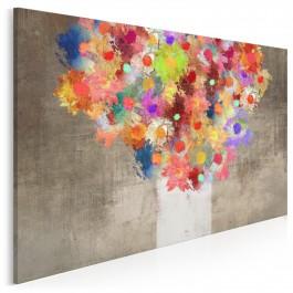 Fontanna kolorów - nowoczesny obraz na płótnie - 120x80 cm