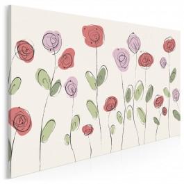 Rozalia - nowoczesny obraz na płótnie - 120x80 cm