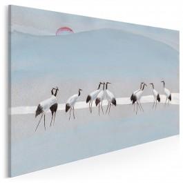 Gildia żurawi - nowoczesny obraz na płótnie - 120x80 cm