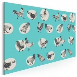Kurka wodna - nowoczesny obraz na płótnie - 120x80 cm