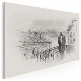 Most miłości - nowoczesny obraz na płótnie