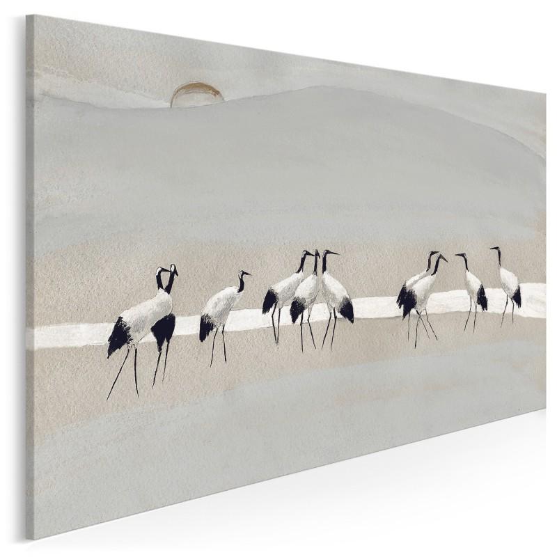 Bractwo żurawi - nowoczesny obraz na płótnie - 120x80 cm