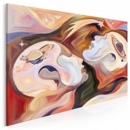 Uniwersum refleksji - nowoczesny obraz na płótnie - 120x80 cm