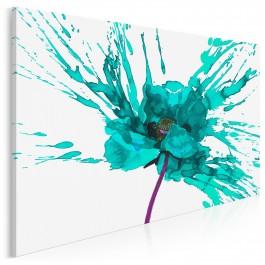 Namiętność turkusu - nowoczesny obraz na płótnie - 120x80 cm