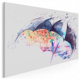 Pogoda na miłość - nowoczesny obraz na płótnie - 120x80 cm