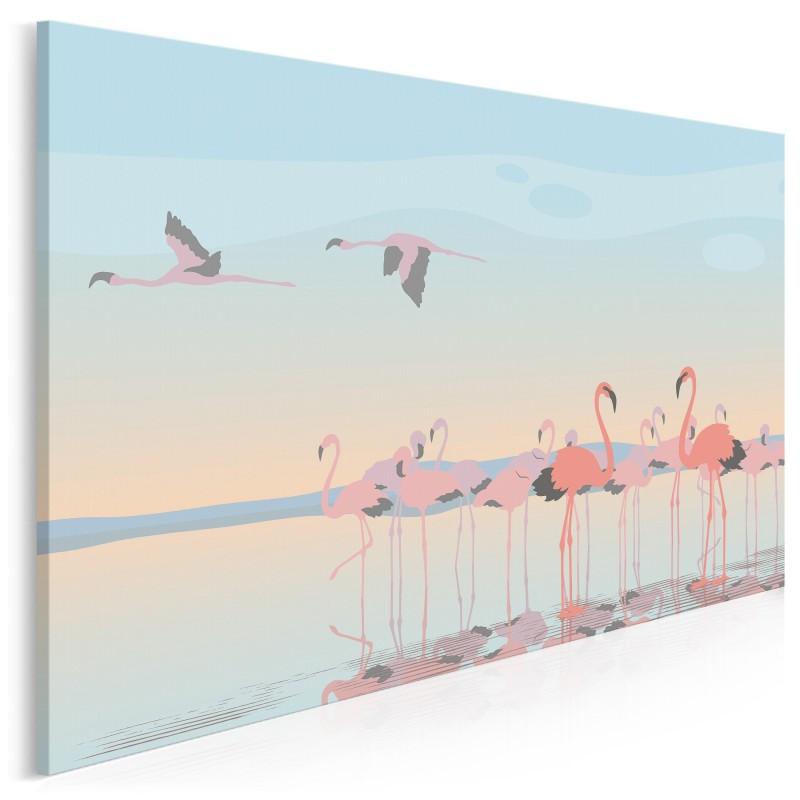 Karmazynowy przypływ - nowoczesny obraz na płótnie - 120x80 cm