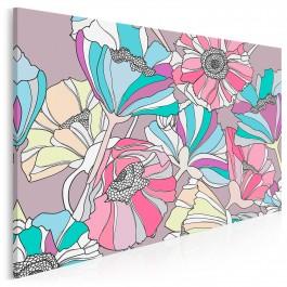 Kwiatostan - nowoczesny obraz na płótnie - 120x80 cm