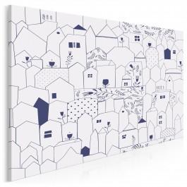 Ulicówka - nowoczesny obraz na płótnie - 120x80 cm