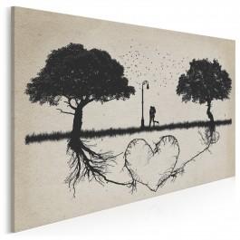 Korzenie miłości - nowoczesny obraz na płótnie - 120x80 cm