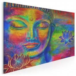 Medytujący Budda - nowoczesny obraz na płótnie - 120x80 cm
