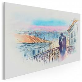 Most zakochanych - nowoczesny obraz na płótnie