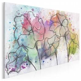 Kocha, lubi, szanuje - nowoczesny obraz na płótnie - 120x80 cm