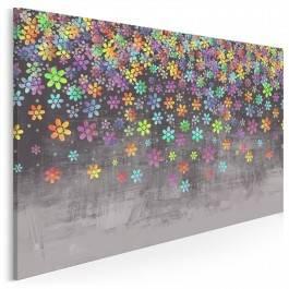 Deszcz kwiatów - nowoczesny obraz na płótnie
