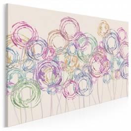 Wirujące piękno - nowoczesny obraz na płótnie - 120x80 cm