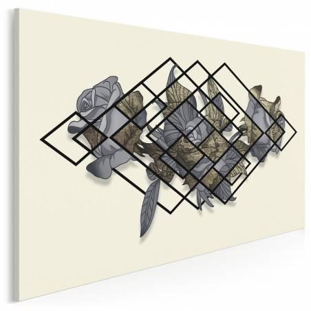 Blaski i cienie - nowoczesny obraz na płótnie - 120x80 cm
